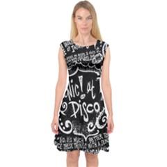 Panic ! At The Disco Lyric Quotes Capsleeve Midi Dress