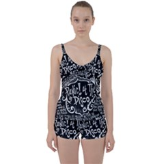 Panic ! At The Disco Lyric Quotes Tie Front Two Piece Tankini
