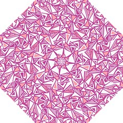 Conversational Triangles Pink White Hook Handle Umbrellas (large)