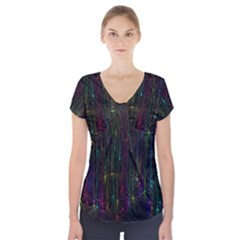 Brain Cell Dendrites Short Sleeve Front Detail Top