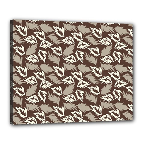 Dried Leaves Grey White Camuflage Summer Canvas 20  X 16