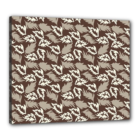 Dried Leaves Grey White Camuflage Summer Canvas 24  X 20