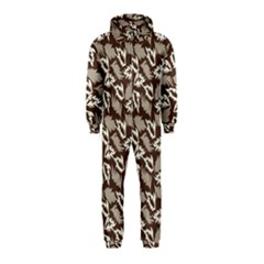 Dried Leaves Grey White Camuflage Summer Hooded Jumpsuit (kids)