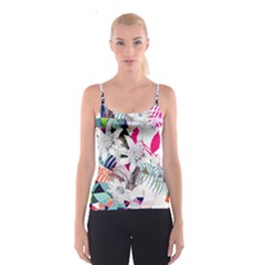 Flower Graphic Pattern Floral Spaghetti Strap Top