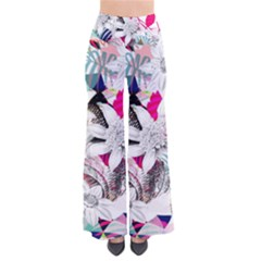 Flower Graphic Pattern Floral Pants