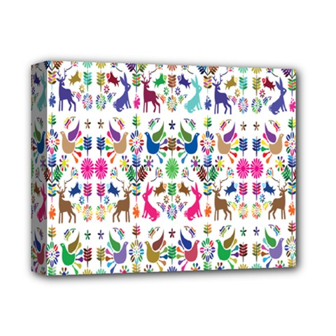 Birds Fish Flowers Floral Star Blue White Sexy Animals Beauty Rainbow Pink Purple Blue Green Orange Deluxe Canvas 14  X 11