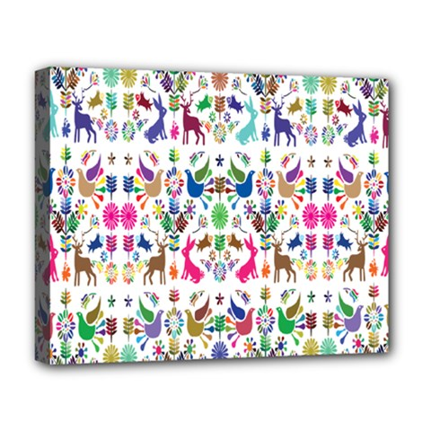 Birds Fish Flowers Floral Star Blue White Sexy Animals Beauty Rainbow Pink Purple Blue Green Orange Deluxe Canvas 20  X 16