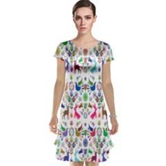 Birds Fish Flowers Floral Star Blue White Sexy Animals Beauty Rainbow Pink Purple Blue Green Orange Cap Sleeve Nightdress