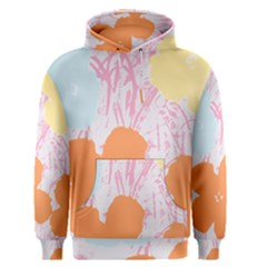 Flower Sunflower Floral Pink Orange Beauty Blue Yellow Men s Pullover Hoodie