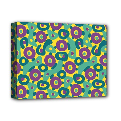 Discrete State Turing Pattern Polka Dots Green Purple Yellow Rainbow Sexy Beauty Deluxe Canvas 14  X 11