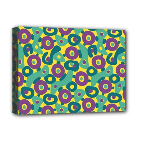 Discrete State Turing Pattern Polka Dots Green Purple Yellow Rainbow Sexy Beauty Deluxe Canvas 16  X 12