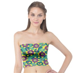 Discrete State Turing Pattern Polka Dots Green Purple Yellow Rainbow Sexy Beauty Tube Top