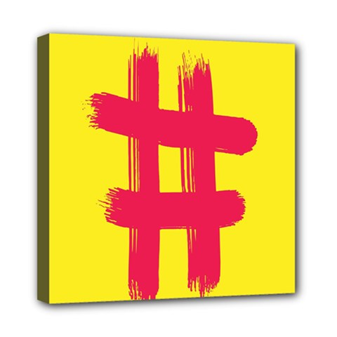 Fun Ain t Gone Fence Sign Red Yellow Flag Mini Canvas 8  X 8