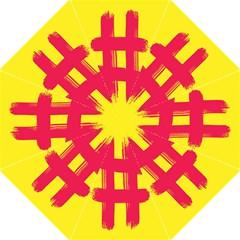Fun Ain t Gone Fence Sign Red Yellow Flag Hook Handle Umbrellas (medium)