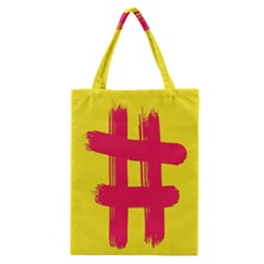 Fun Ain t Gone Fence Sign Red Yellow Flag Classic Tote Bag