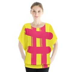 Fun Ain t Gone Fence Sign Red Yellow Flag Blouse