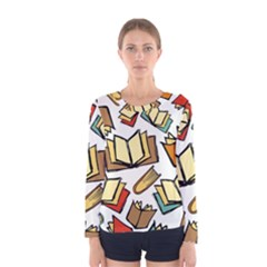 Friends Library Lobby Book Sale Women s Long Sleeve Tee