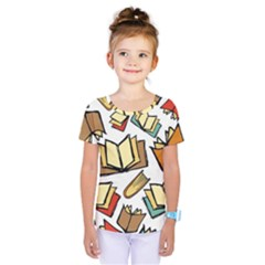 Friends Library Lobby Book Sale Kids  One Piece Tee