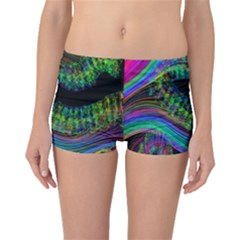 Aurora Wave Colorful Space Line Light Neon Visual Cortex Plate Boyleg Bikini Bottoms