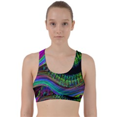 Aurora Wave Colorful Space Line Light Neon Visual Cortex Plate Back Weave Sports Bra