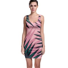 Graciela Detail Petticoat Palm Pink Green Bodycon Dress