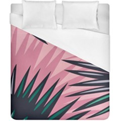 Graciela Detail Petticoat Palm Pink Green Duvet Cover (california King Size)
