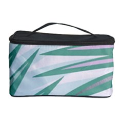 Graciela Detail Petticoat Palm Pink Green Gray Cosmetic Storage Case