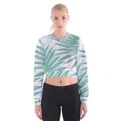 Graciela Detail Petticoat Palm Pink Green Gray Cropped Sweatshirt