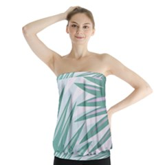 Graciela Detail Petticoat Palm Pink Green Gray Strapless Top