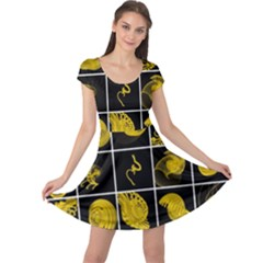 Grasshopper Rhino Spirograph Beautiful Fabulous Cap Sleeve Dress