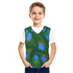 Fluorescence Microscopy Green Blue Kids  Sportswear