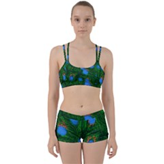 Fluorescence Microscopy Green Blue Women s Sports Set