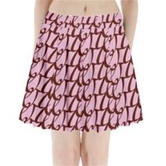 Letter Font Zapfino Appear Pleated Mini Skirt