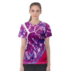 Histology Inc Histo Logistics Incorporated Masson s Trichrome Three Colour Staining Women s Sport Mesh Tee