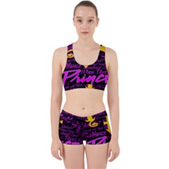 Prince Poster Work It Out Sports Bra Set
