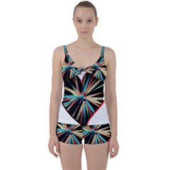 Above & Beyond Tie Front Two Piece Tankini