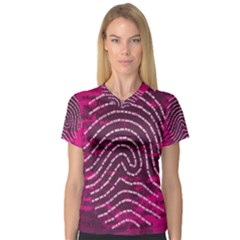 Above & Beyond Sticky Fingers V Neck Sport Mesh Tee
