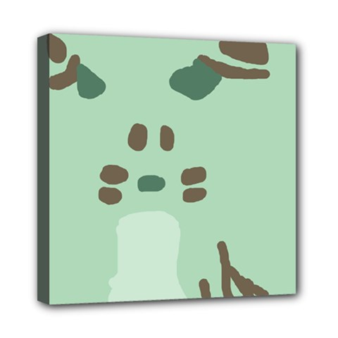 Lineless Background For Minty Wildlife Monster Mini Canvas 8  X 8