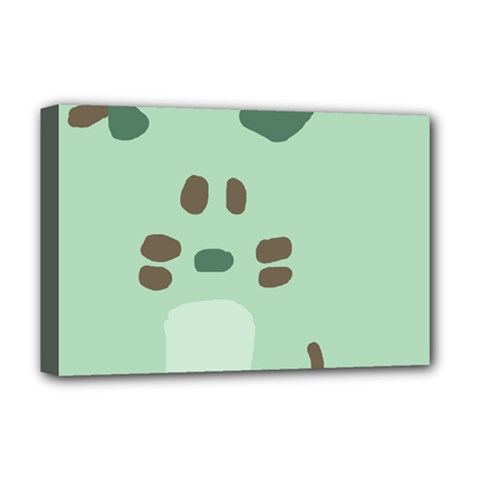 Lineless Background For Minty Wildlife Monster Deluxe Canvas 18  X 12
