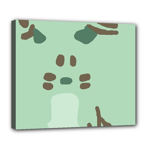 Lineless Background For Minty Wildlife Monster Deluxe Canvas 24  X 20