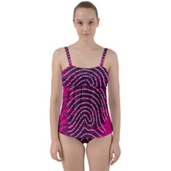 Above & Beyond Sticky Fingers Twist Front Tankini Set