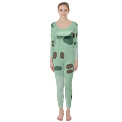 Lineless Background For Minty Wildlife Monster Long Sleeve Catsuit