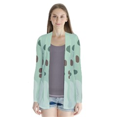 Lineless Background For Minty Wildlife Monster Drape Collar Cardigan