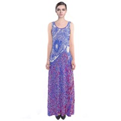 Histology Inc Histo Logistics Incorporated Human Liver Rhodanine Stain Copper Sleeveless Maxi Dress