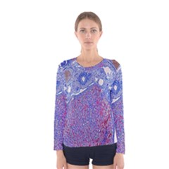 Histology Inc Histo Logistics Incorporated Human Liver Rhodanine Stain Copper Women s Long Sleeve Tee