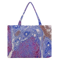 Histology Inc Histo Logistics Incorporated Human Liver Rhodanine Stain Copper Zipper Medium Tote Bag