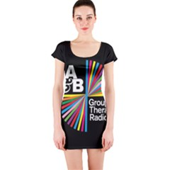 Above & Beyond  Group Therapy Radio Short Sleeve Bodycon Dress