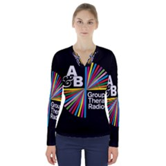 Above & Beyond  Group Therapy Radio V Neck Long Sleeve Top