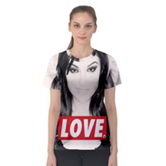 Sasha Grey Love Women s Sport Mesh Tee