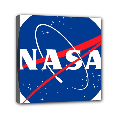 Nasa Logo Mini Canvas 6  X 6